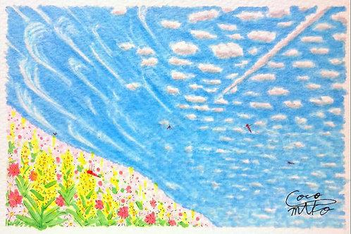 「丘から仰ぐ空」シリーズ 原画 2