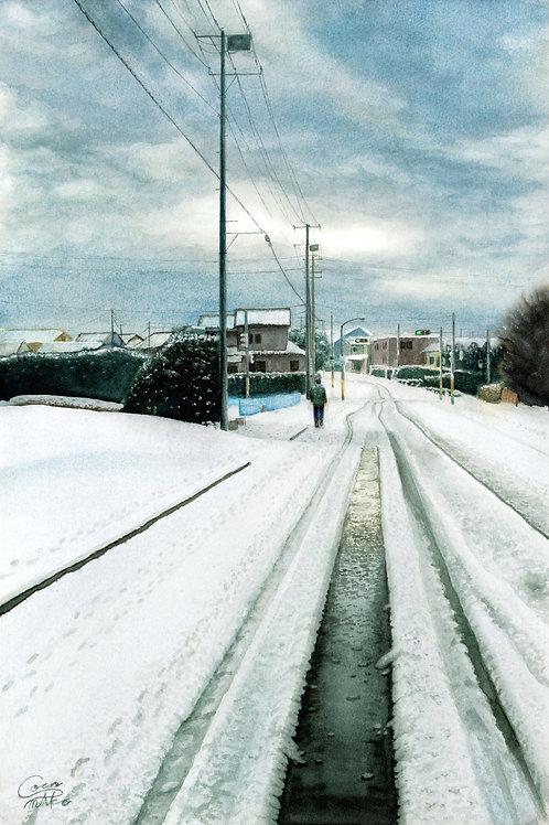 「或る雪路」PC用壁紙