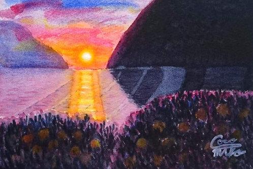 「ミカンの丘~落陽~」シリーズ 原画 4