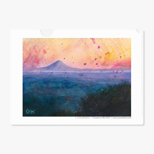 """""""Sunset on a Hill"""" A4 Folder"""