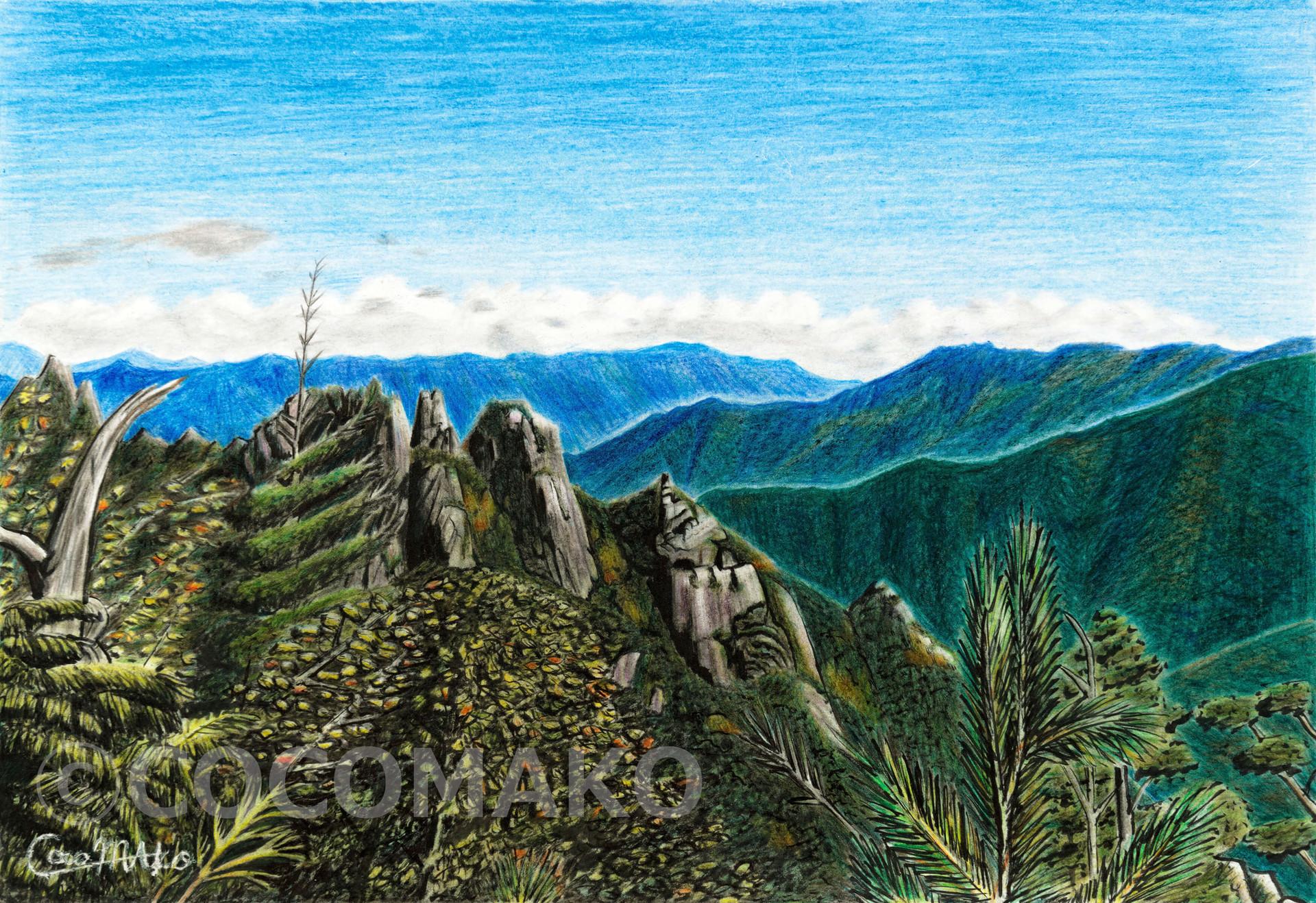 早秋の峰々
