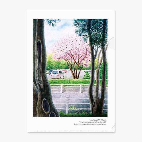"""""""In a Corner of a Park"""" A4 Folder"""