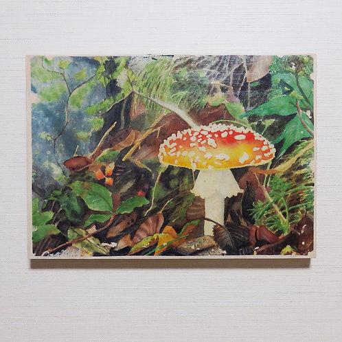 「荒地の妖精」木製パネル転写画