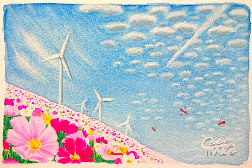 「丘から仰ぐ空」シリーズ 原画 3
