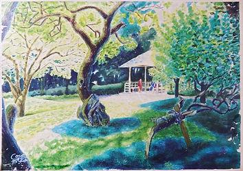 木と森の風景画