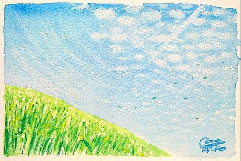 「丘から仰ぐ空」シリーズ 原画 4