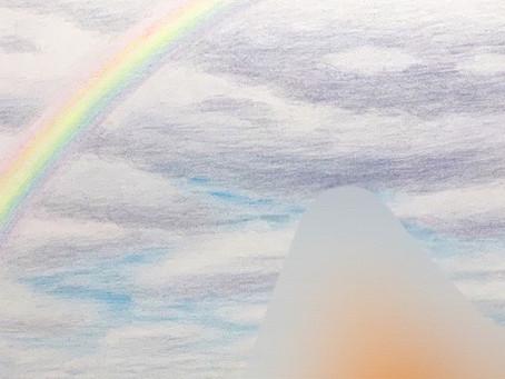 連作のオーダー絵画の、最後の作品の一部です🖼