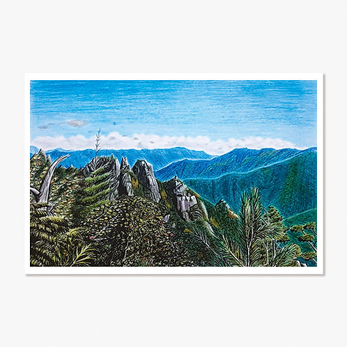 """""""Peaks of Early Autumn"""" Post Card"""