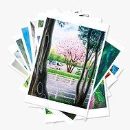 オリジナル絵画ポストカード