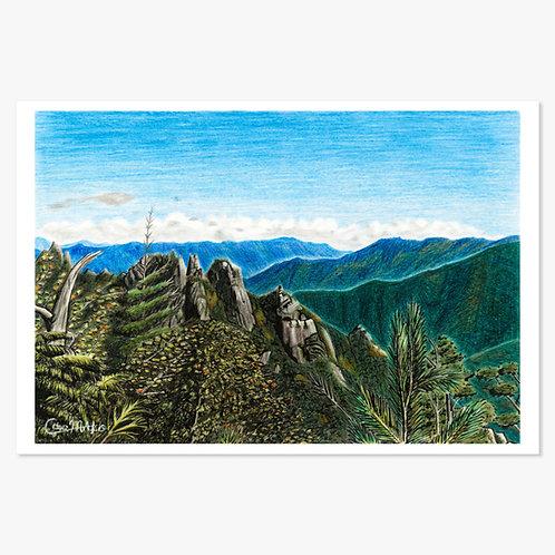 「早秋の峰々」ポストカード