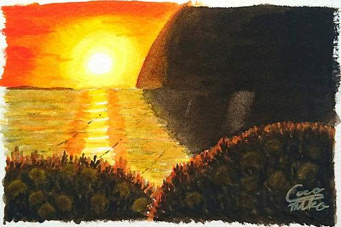 「ミカンの丘~落陽~」シリーズ 原画 3