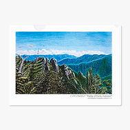 山の風景のクリアファイル