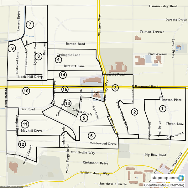 Meadowood Neighborhood Area Map