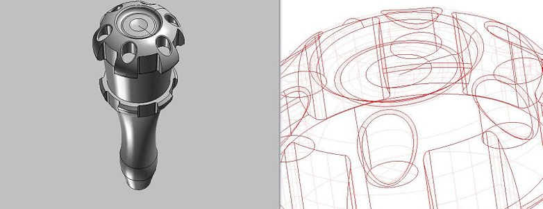 Shifter cad 3d drawing