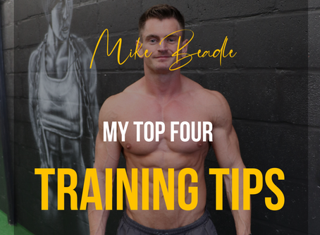 My Top Four Training Tips