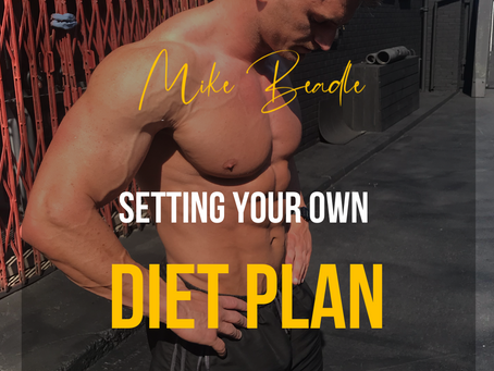 Setting up your own diet plan for fat loss