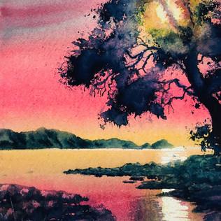 Sunset over the Inlet - Graeme Dazeley