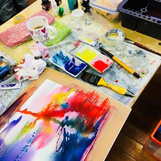 Paint pouring experiment Graeme Dazeley