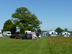 Tents in the hay meadow