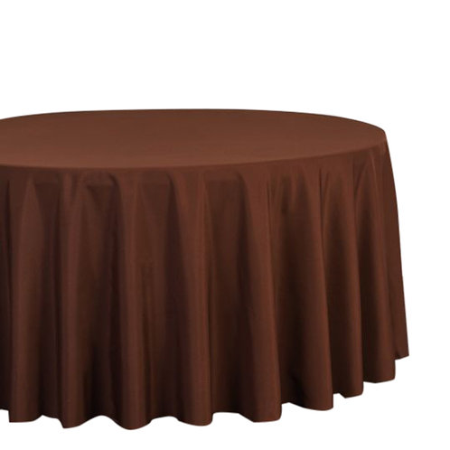 "Chocolate 120"" Polyester Tablecloths"
