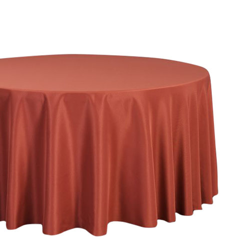 "Marsala- 120"" Polyester Tablecloths"