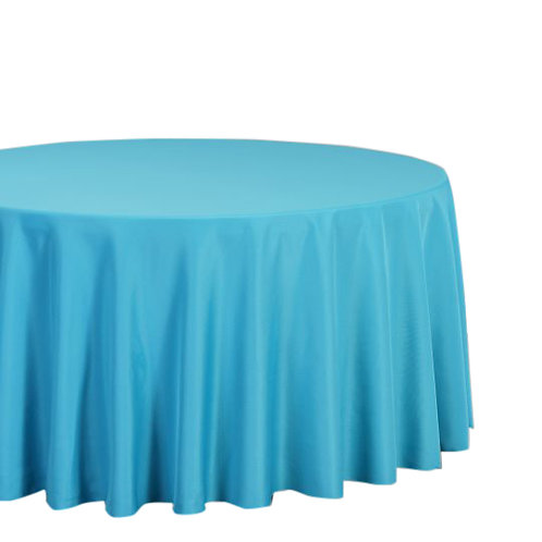 "Turquoise- 120"" Polyester Tablecloth"