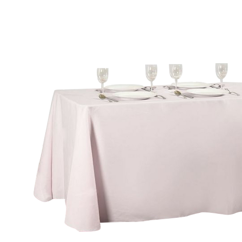 Light Pink- Rectangular Polyester Tablecloth