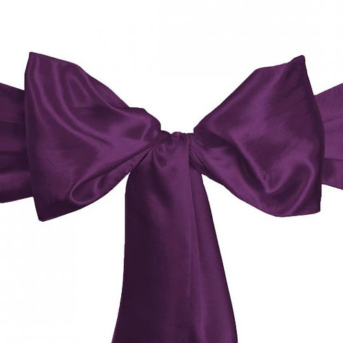 Eggplant - Satin Sashes