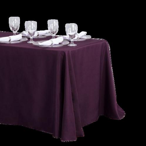 Eggplant- Rectangular Polyester Tablecloth