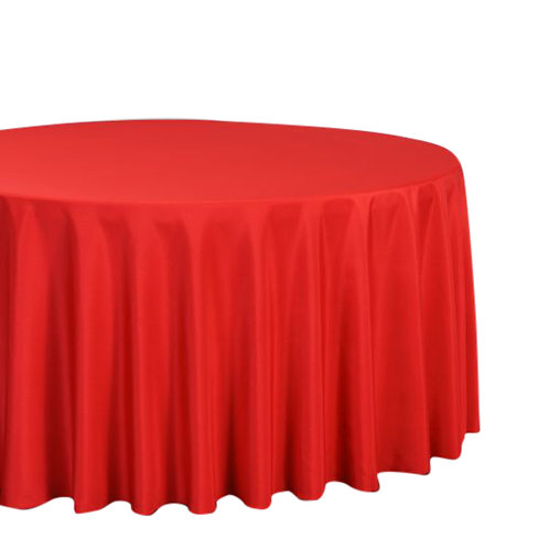 """Red-  120"""" Polyester Tablecloths"""