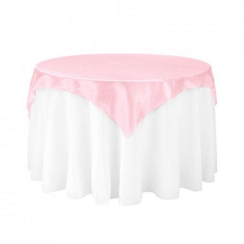 Pink- Satin Overlay