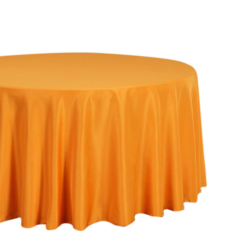 "Orange- 120"" Polyester Tablecloths"