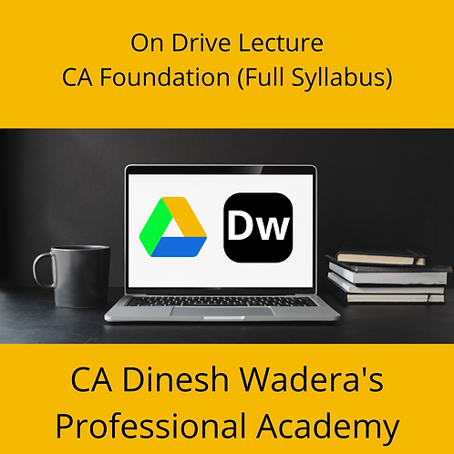 CA Foundation (Full Syllabus) - On Drive