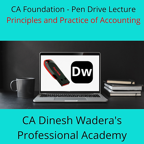 Principles and Practice of Accounting - CA Foundation - Pen Drive