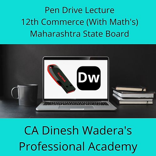 12th Commerce (With Maths) - Pen Drive