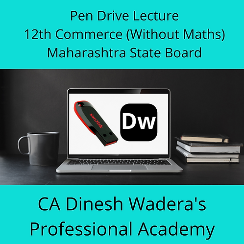 12th Commerce (Without Maths) - Pen Drive