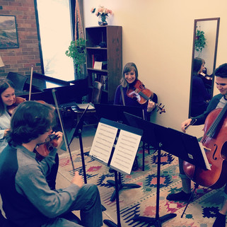 Amy Beach String Quartet Rehearsal