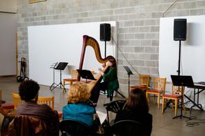 Ellie Kirk, harp