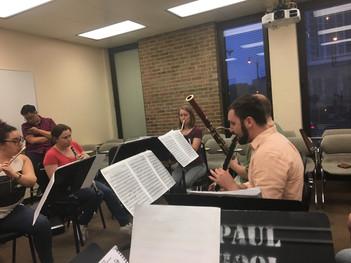 Rehearsing the Chretien Quintet
