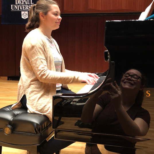 Lillia Woolshlager practicing Estelle Ricketts