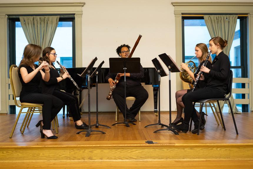 Performing at Curtiss Hall, April 2019.