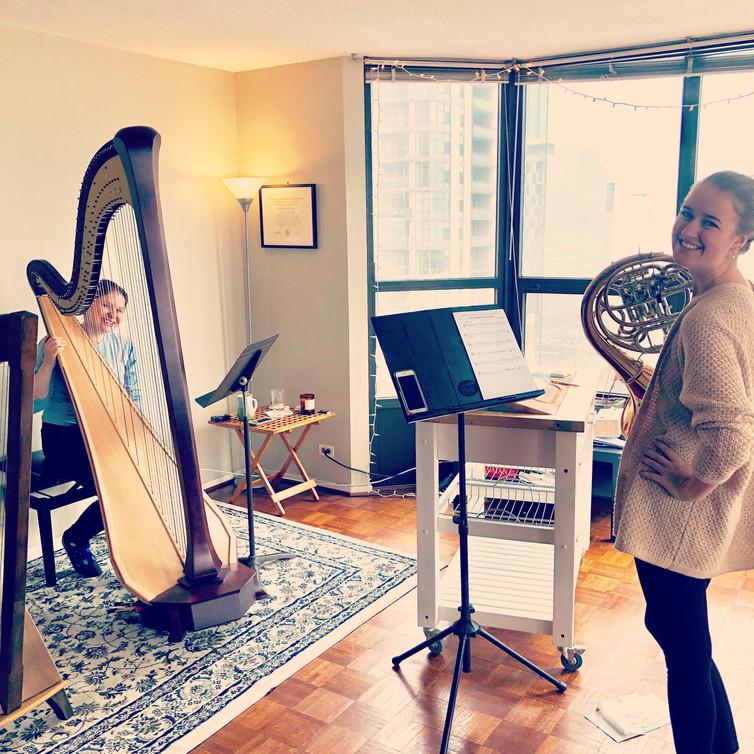 Berg Trio rehearsal