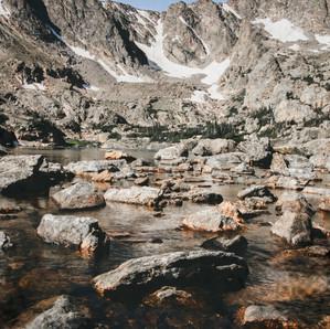 Freezing cold Alpine Lake