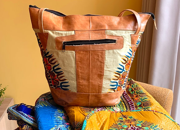 Leather Bag Package - light Yellow