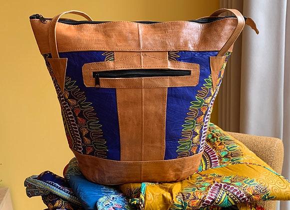 Sjiek Leather Bag Package - African Blue