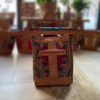 Binta Sjiek paperbag leather - wine Red