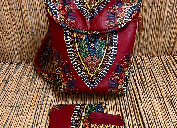 Backpack package - wine Red