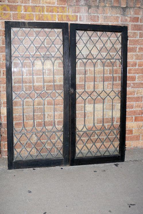 Leaded Glass Cabinet Doors