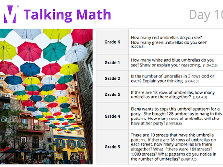 A Picture Can Elicit a Thousand Words: Using the IM Talking Math Slide Deck, for Grades TK-Grade 5