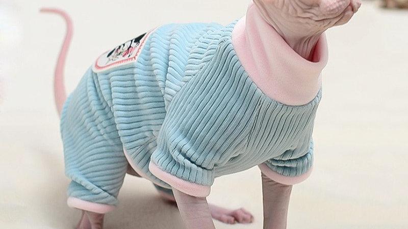 Cat Clothes Winter Warm Soft Cats Cotton Hoodies